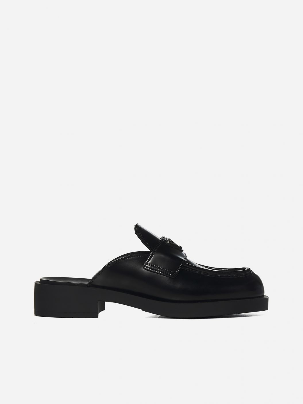 Loafers-style leather mules