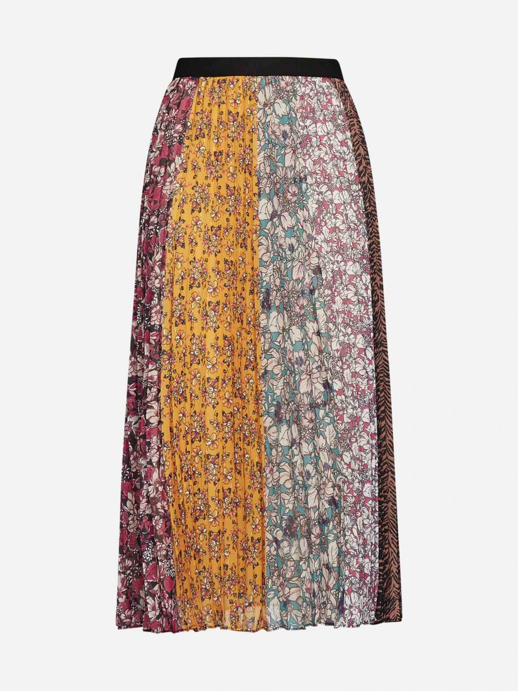Abbeville floral print pleated skirt