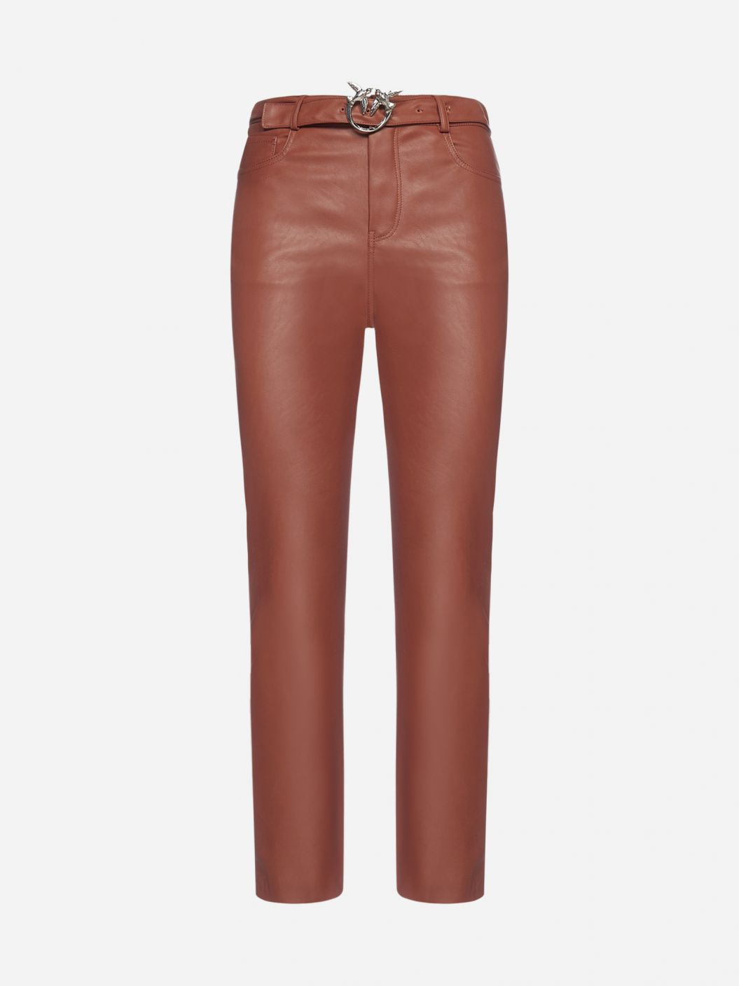 Susan faux leather belted trousers
