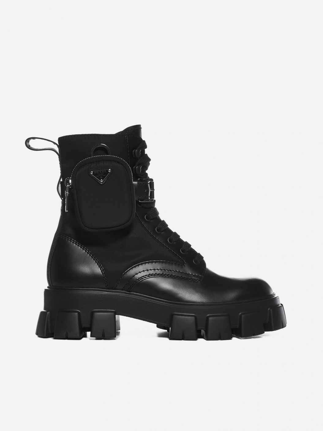 Monolith leather and nylon combat boots