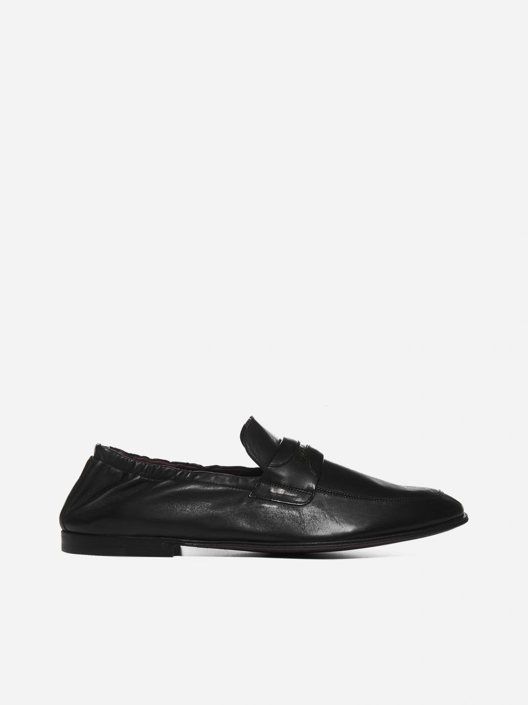 Logo-plaque nappa leather loafers