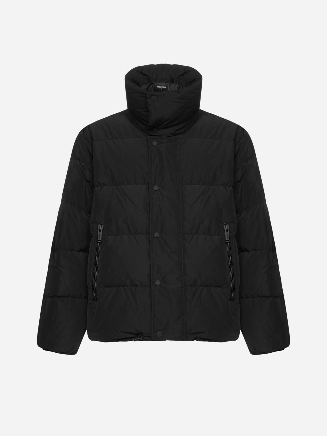 Logo quilted nylon down jacket