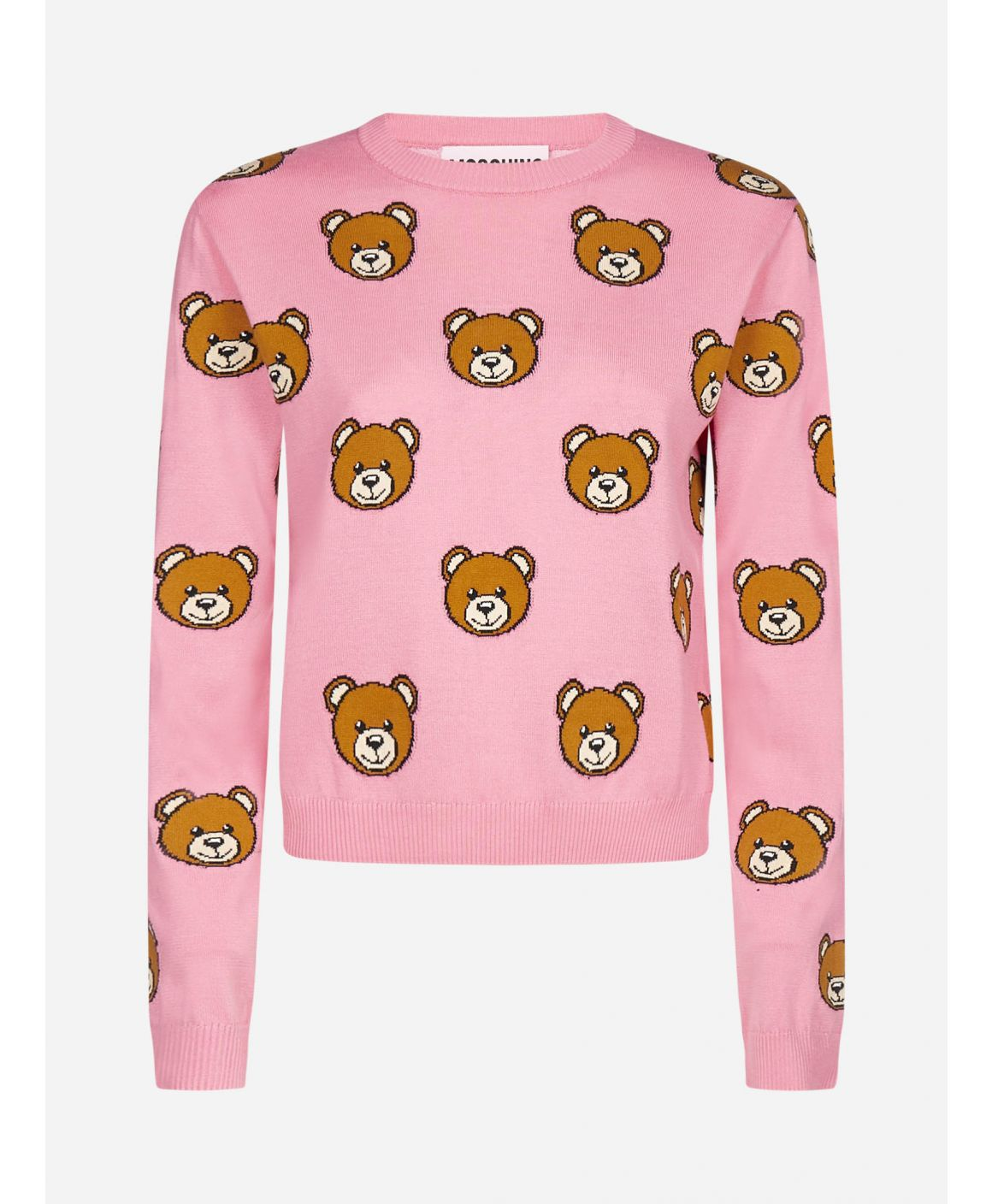 Teddy-all-over cotton sweater