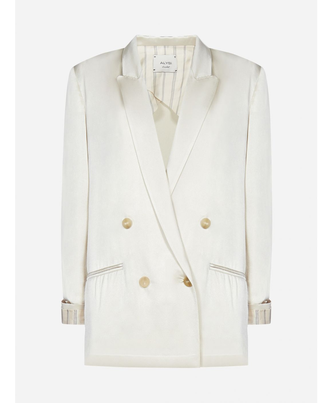 Viscose-blend double-breasted blazer
