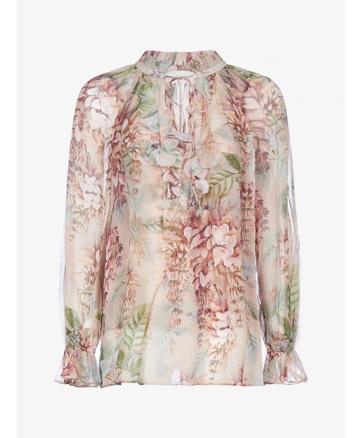 Candescent floral print silk blouse