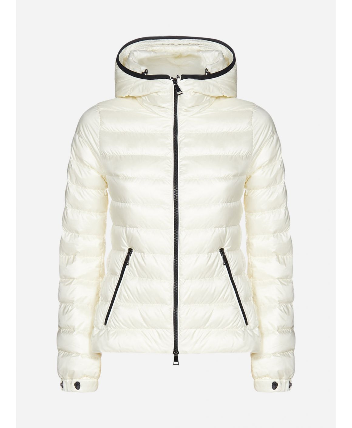 Bles hooded quilted nylon down jacket
