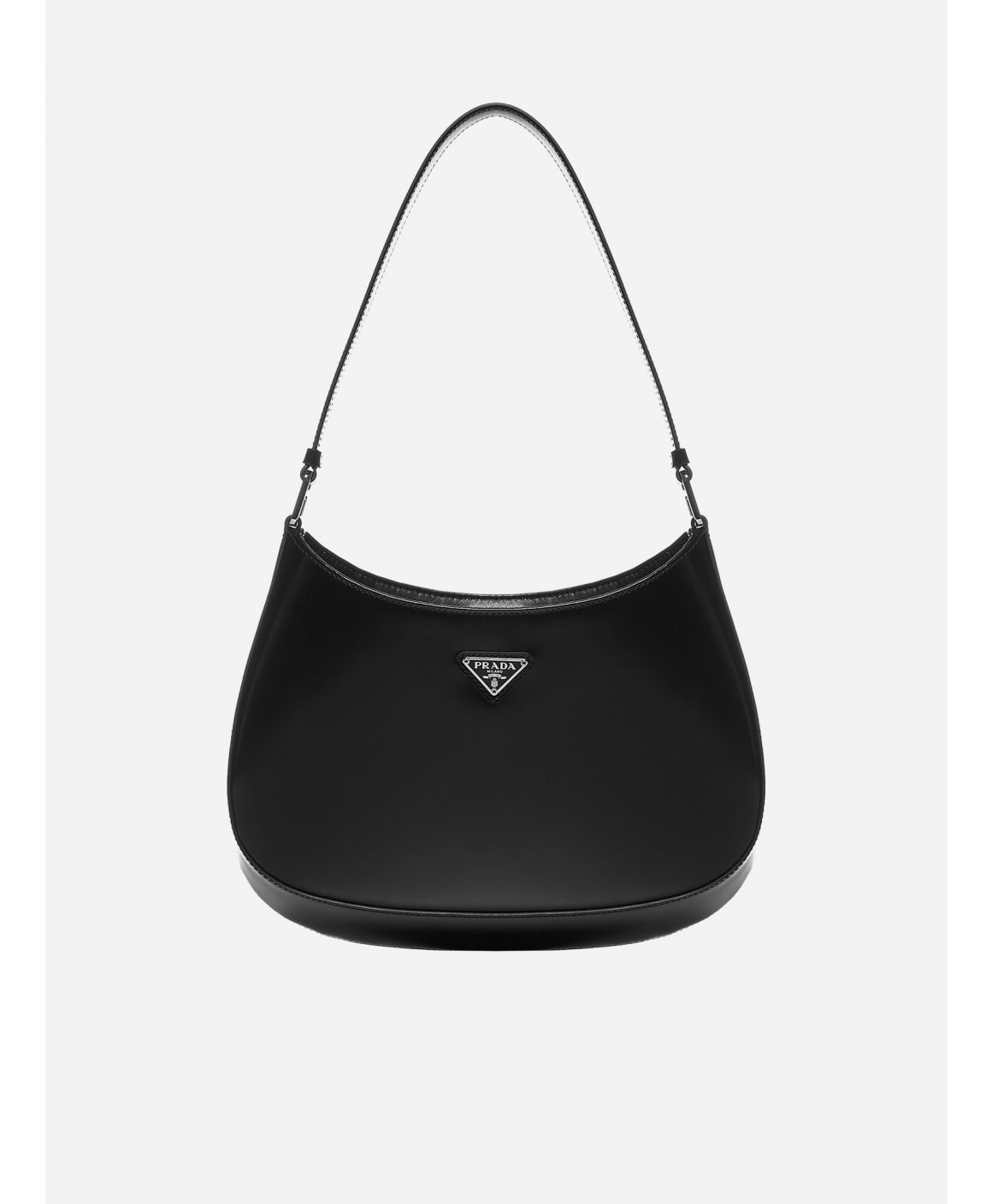 Logo-plaque leather shoulder bag