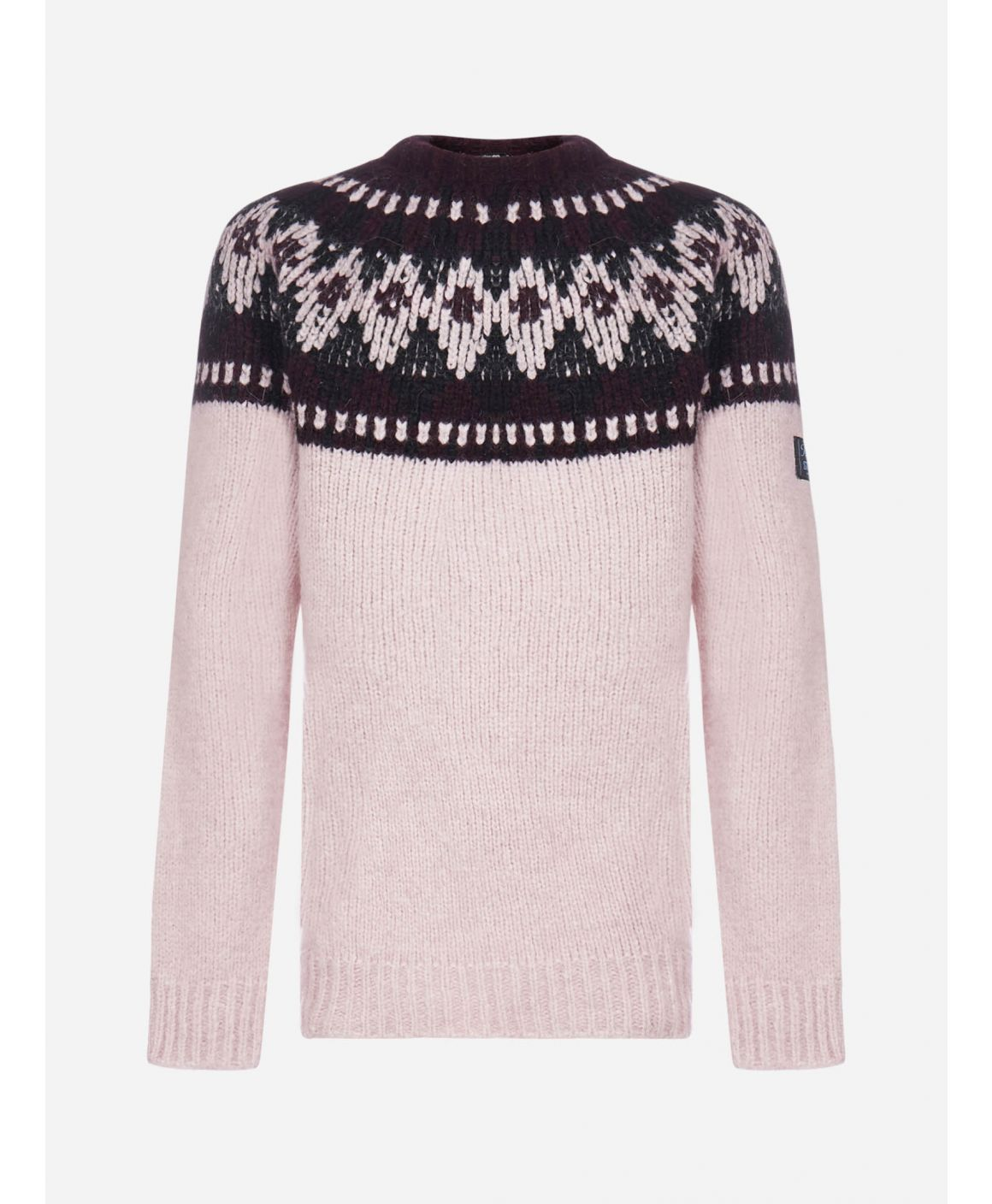 Alpaca and wool jacquard sweater