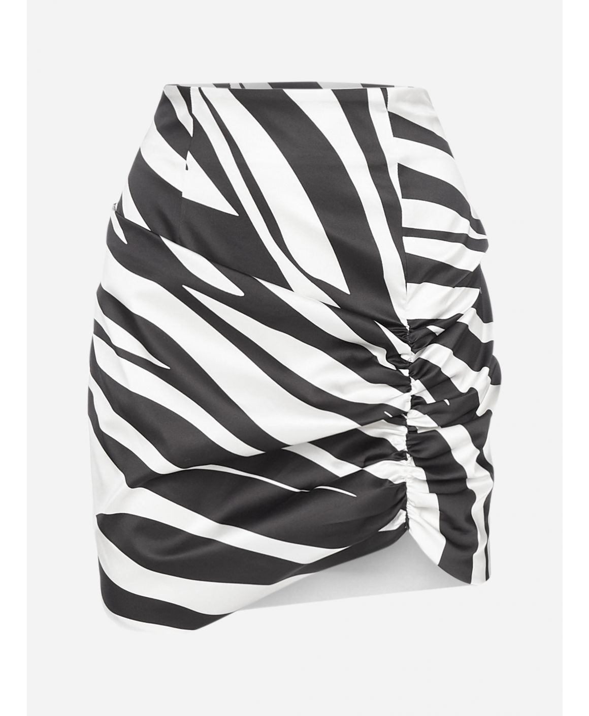 The Abigail zebra print satin skirt