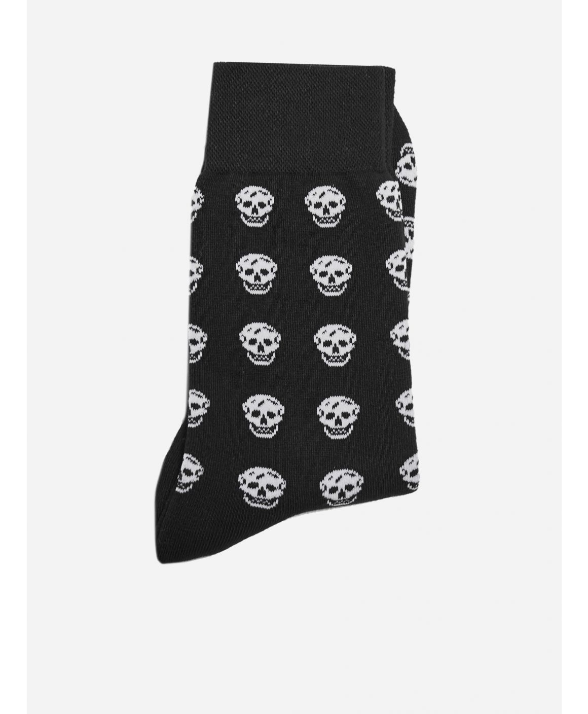 Skull-all-over cotton socks