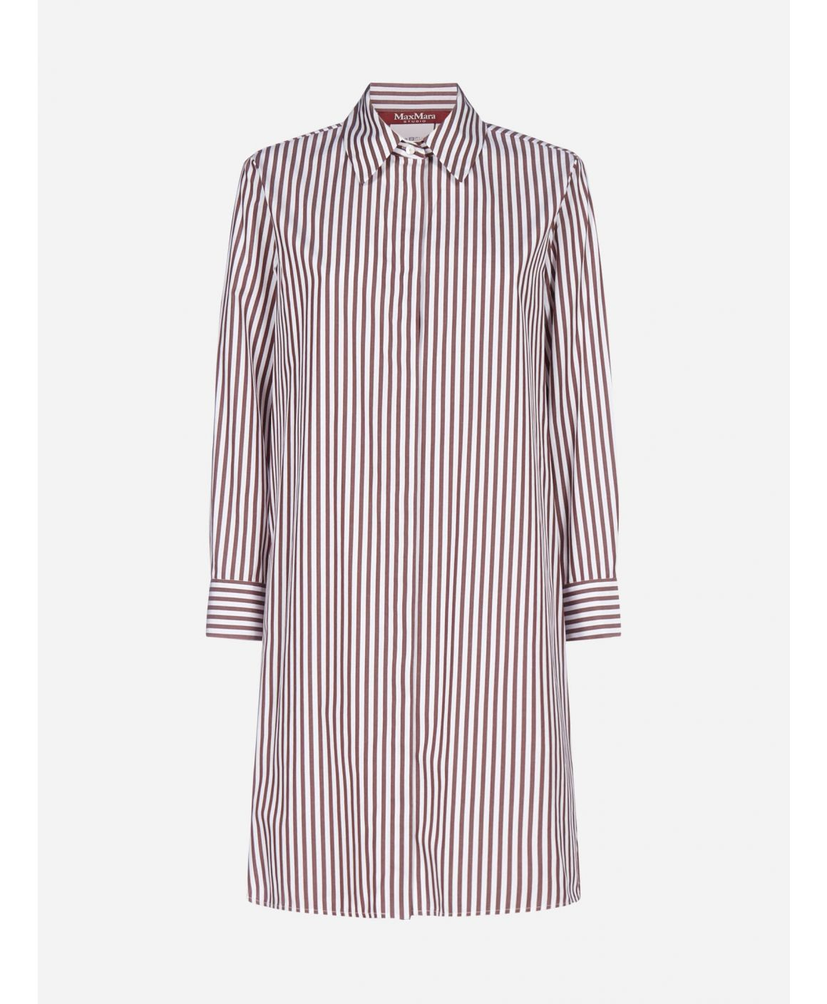 Giara striped cotton shirt-dress