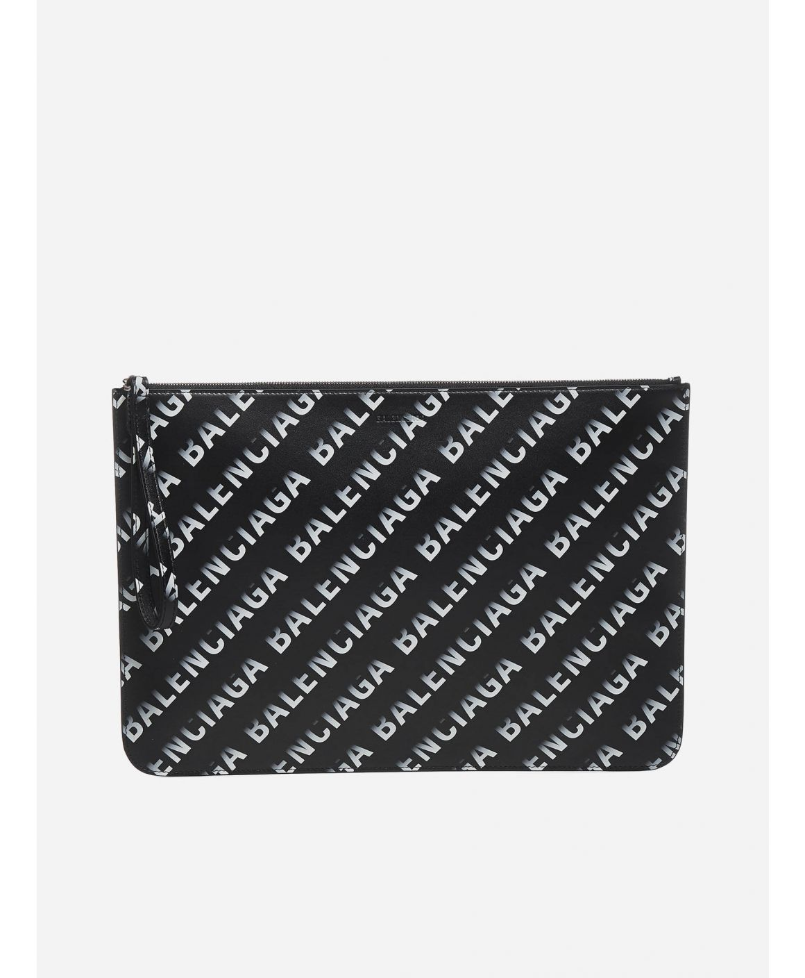 Cash Large all-over logo leather pouch