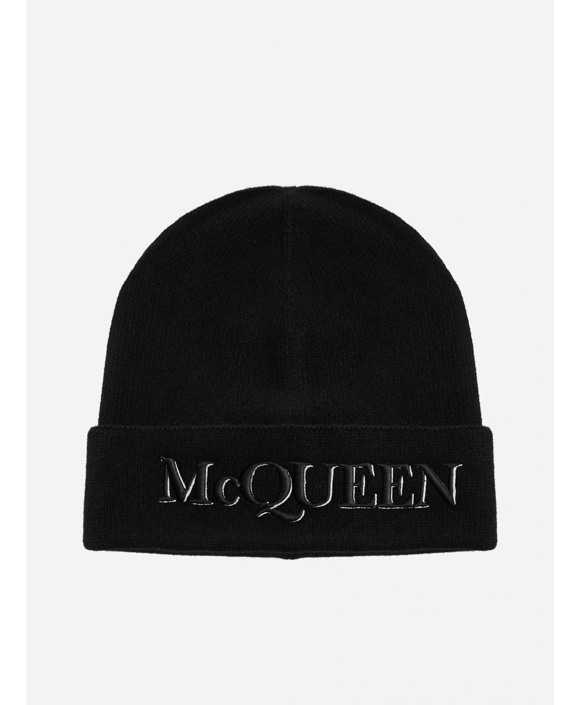 Logo wool and cashmere beanie