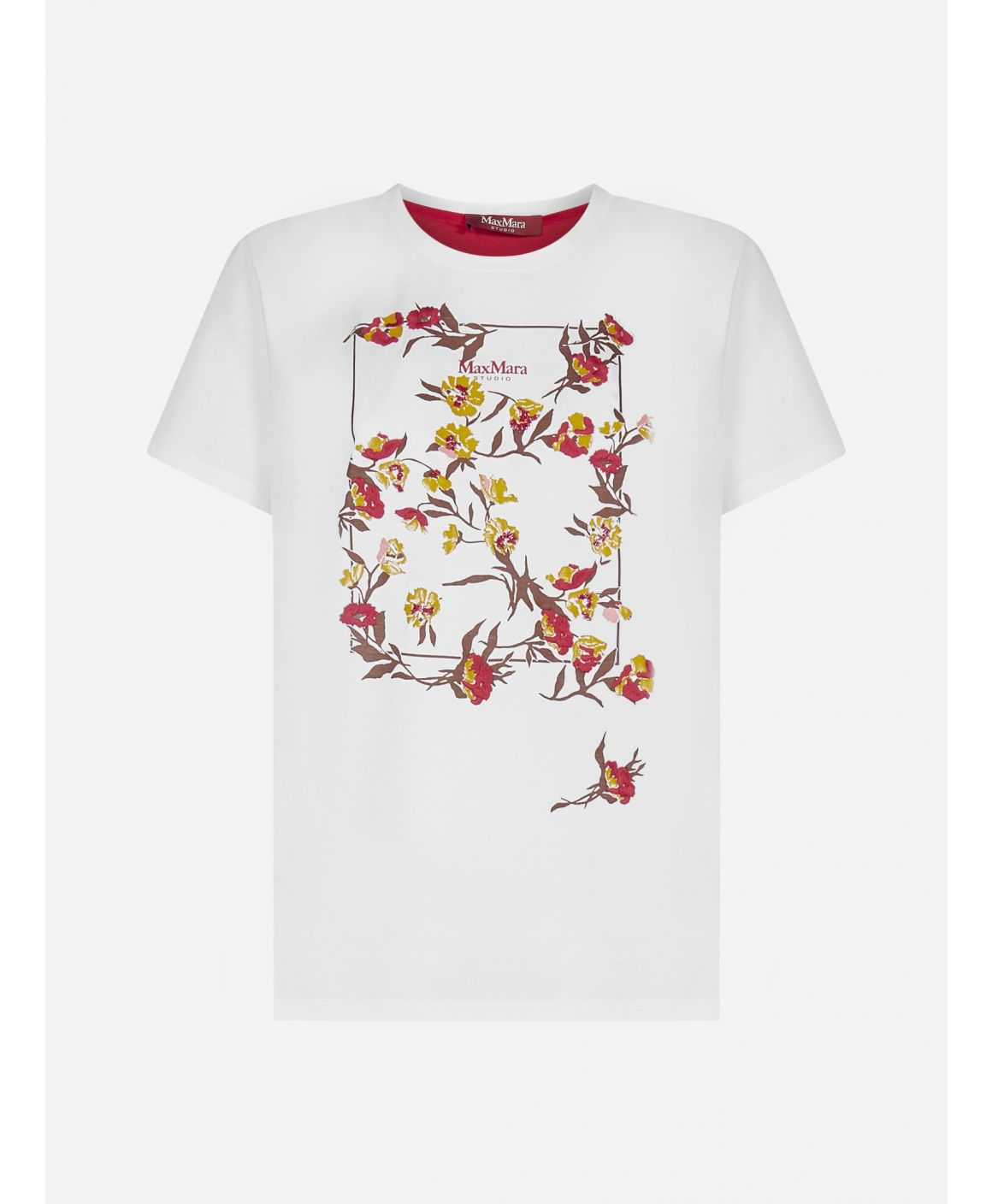 Baviera floral print cotton t-shirt