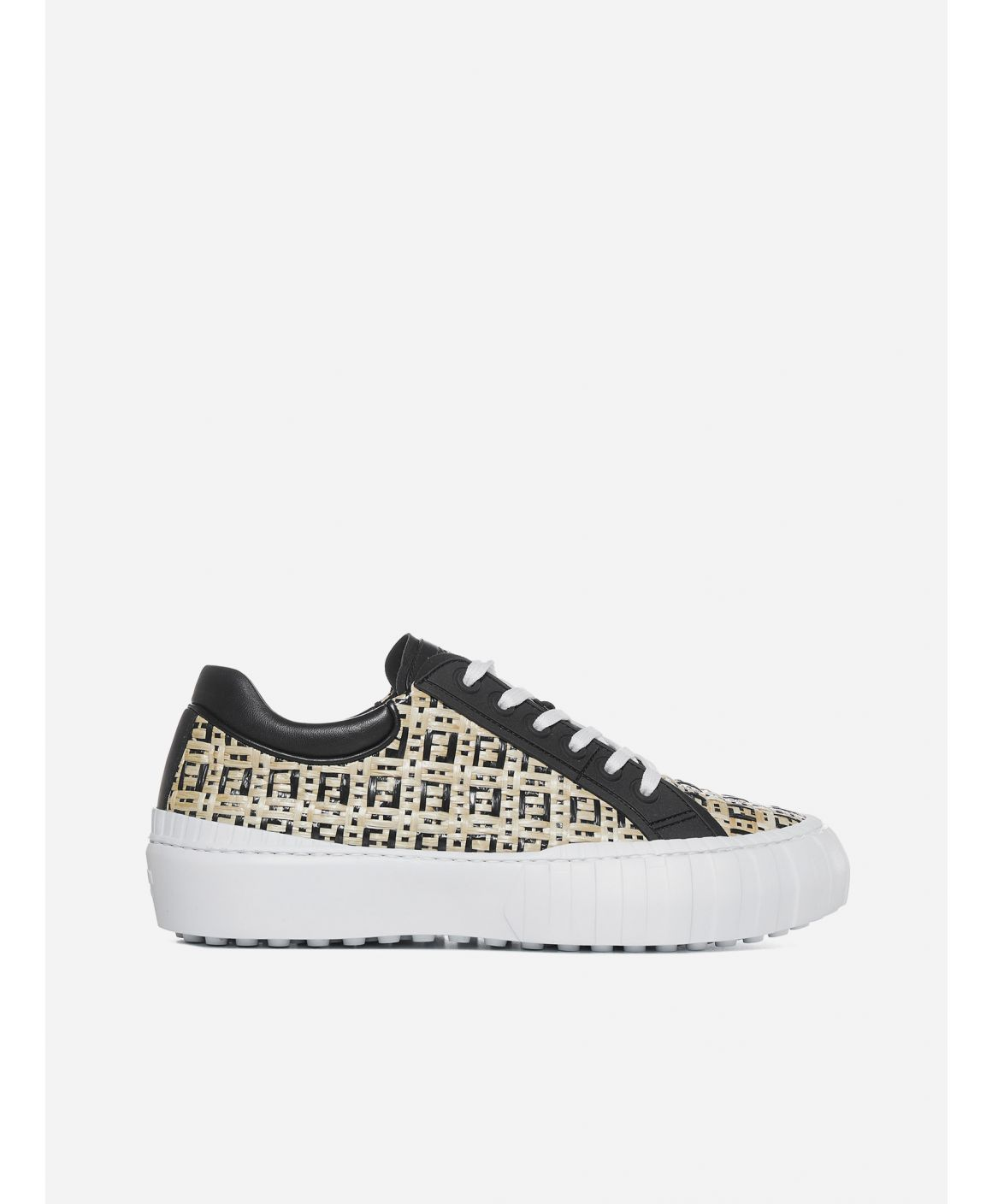 FF woven leather sneakers