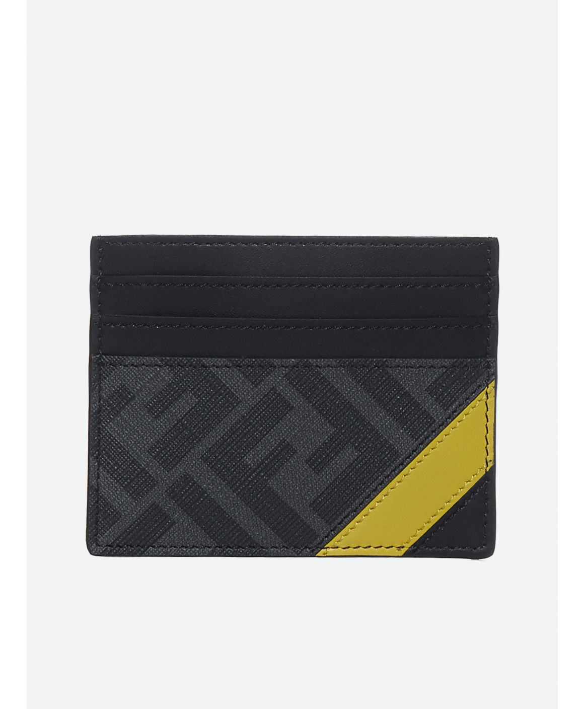 Leather and FF fabric cardholder