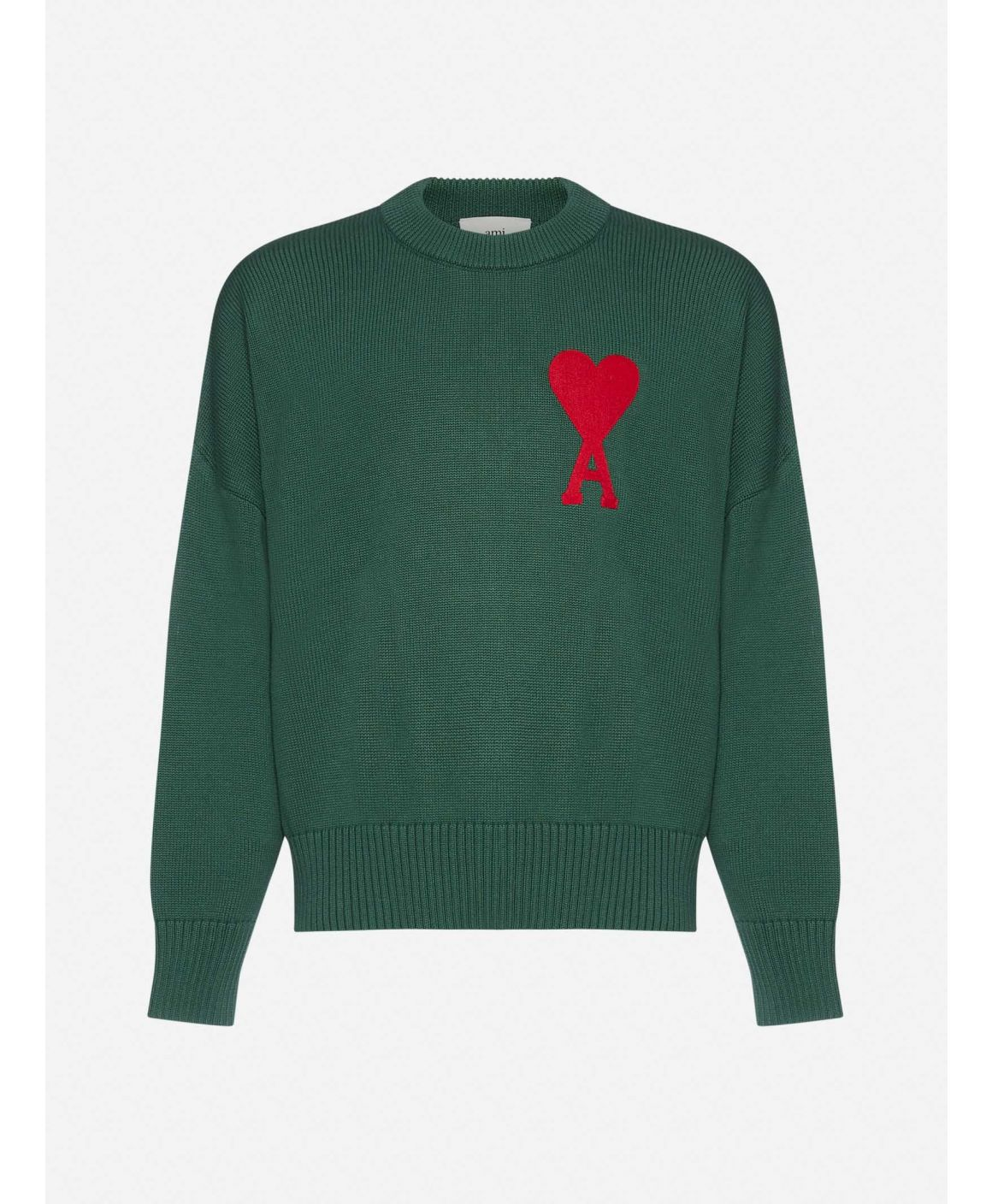 Ami-de-Coeur patch cotton and wool sweater
