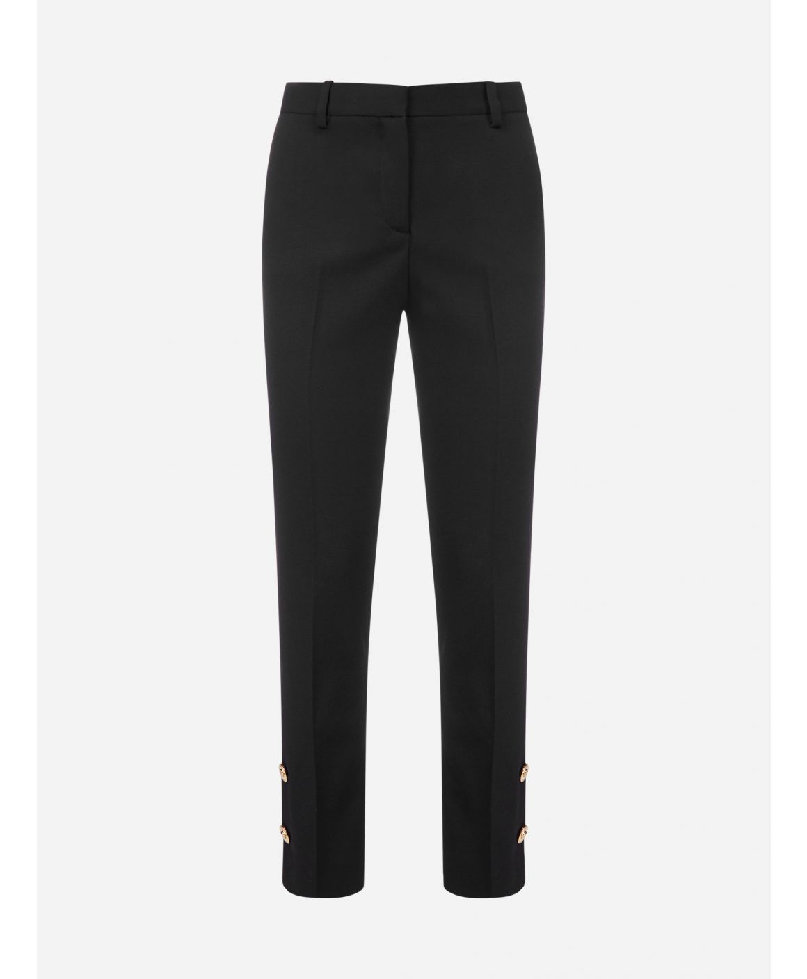 Logo-buttons wool trousers
