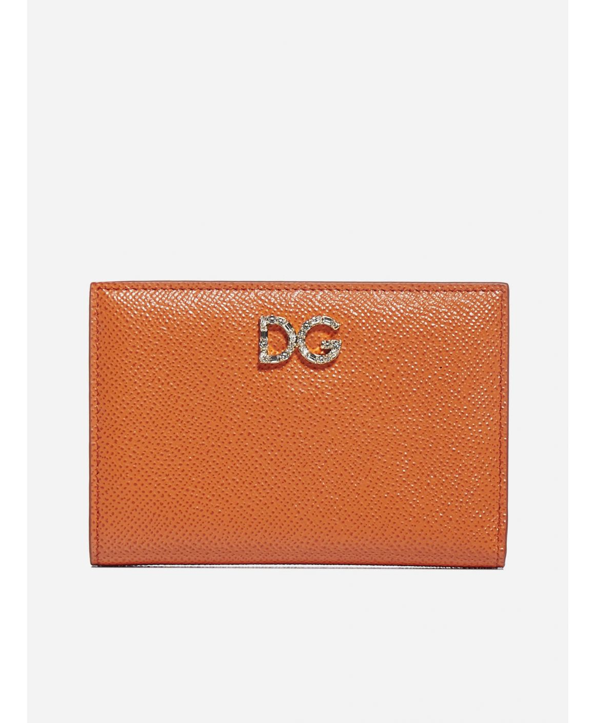 Logo leather bifold wallet