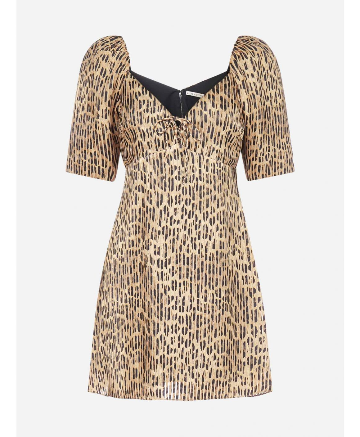 Dana leopard print viscose-blend mini dress