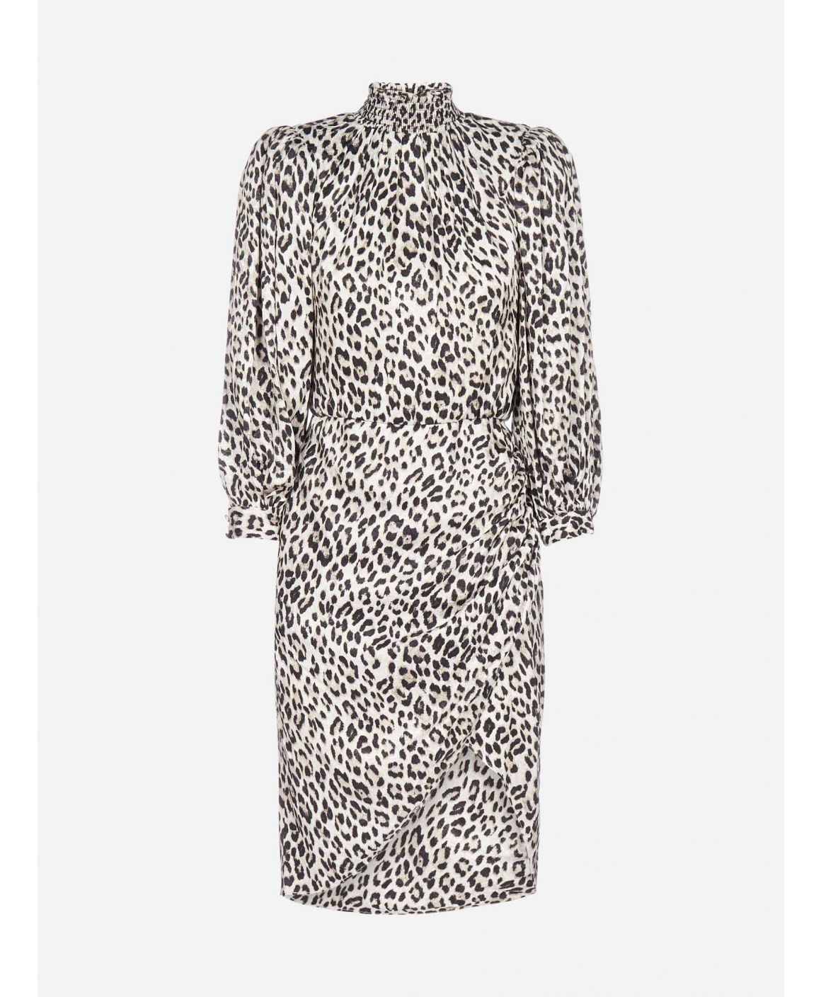 Jerilyn leopard print viscose-blend dress