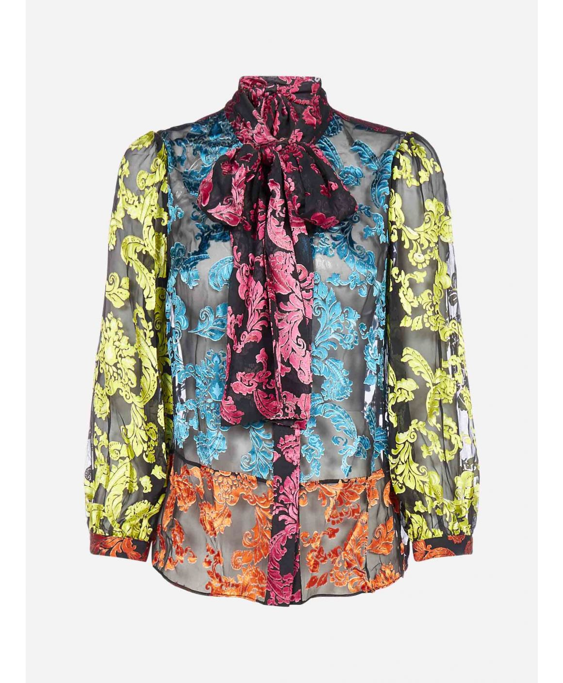 Jeannie jacquard silk shirt