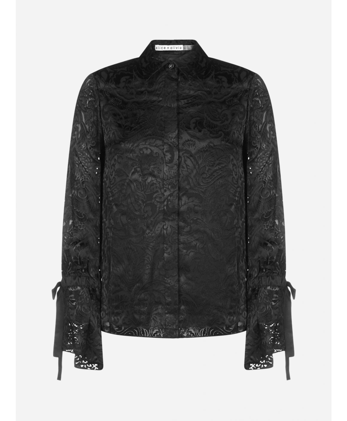 Willa silk-blend jacquard shirt