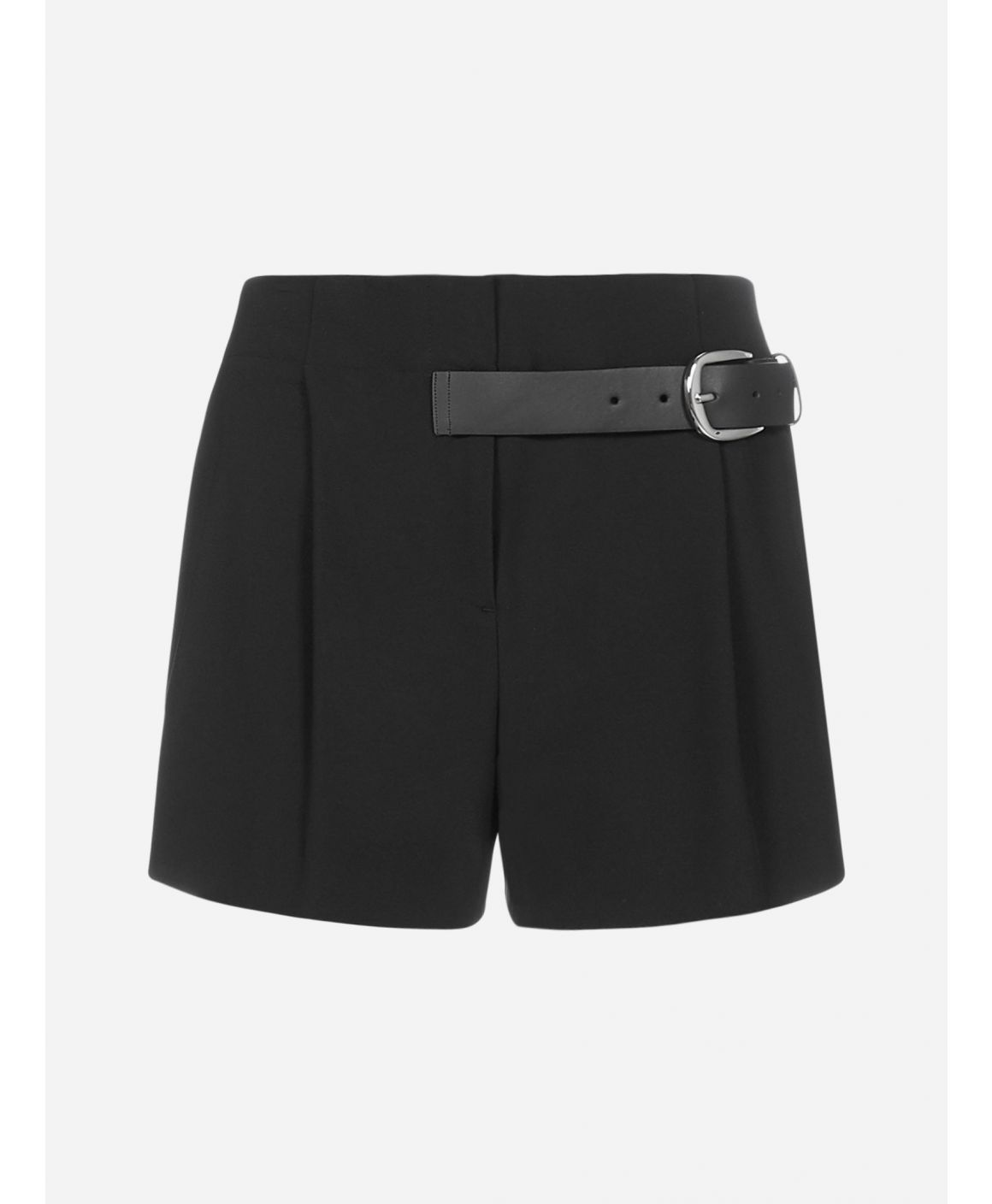 Adelina belted viscose blend shorts