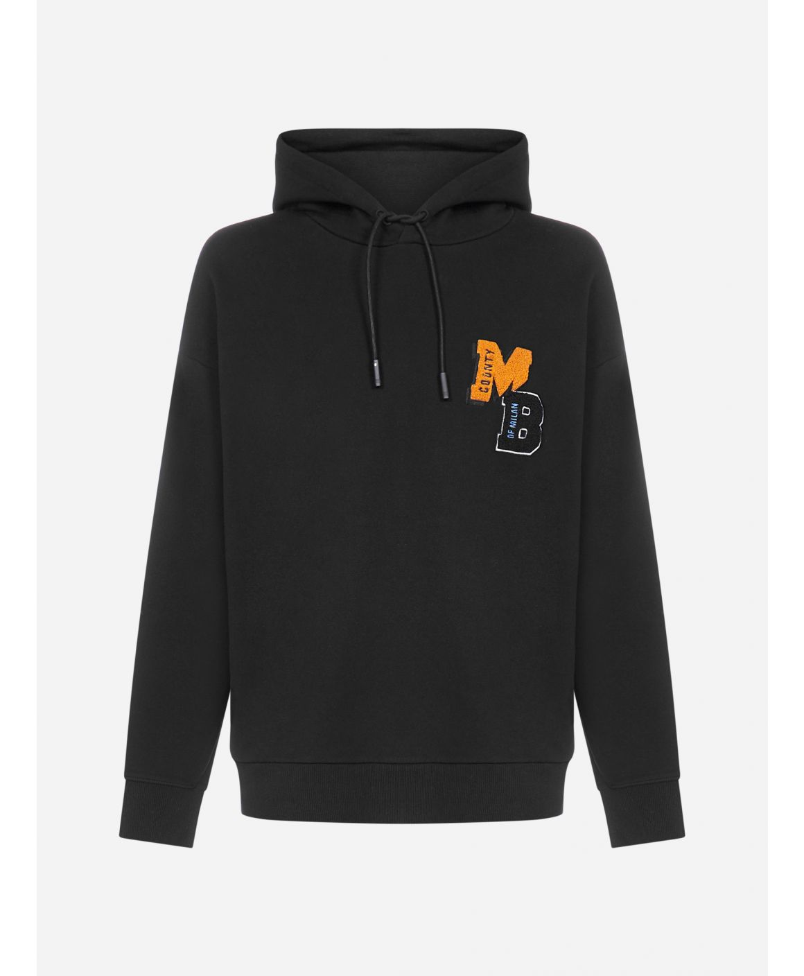 Logo-patch cotton hoodie