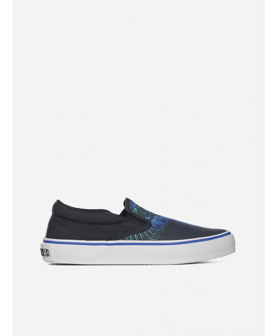 Wings cotton canvas slip ons