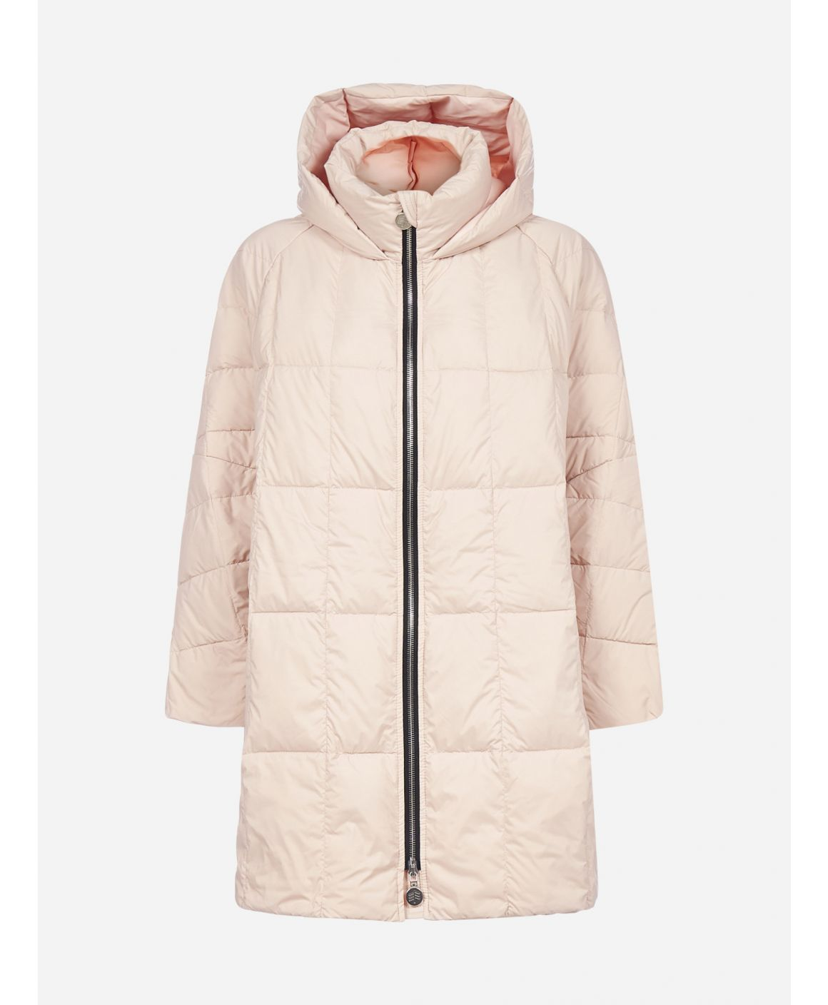 Pyramide cropped hooded nylon down jacket