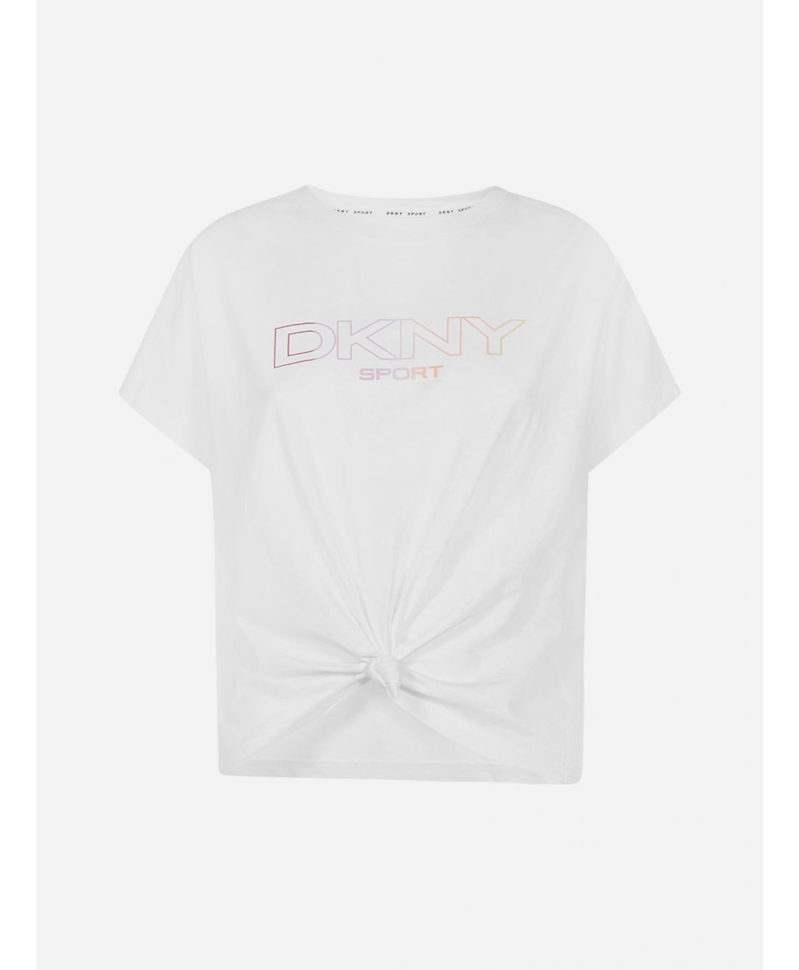 Logo and knot cotton-blend t-shirt