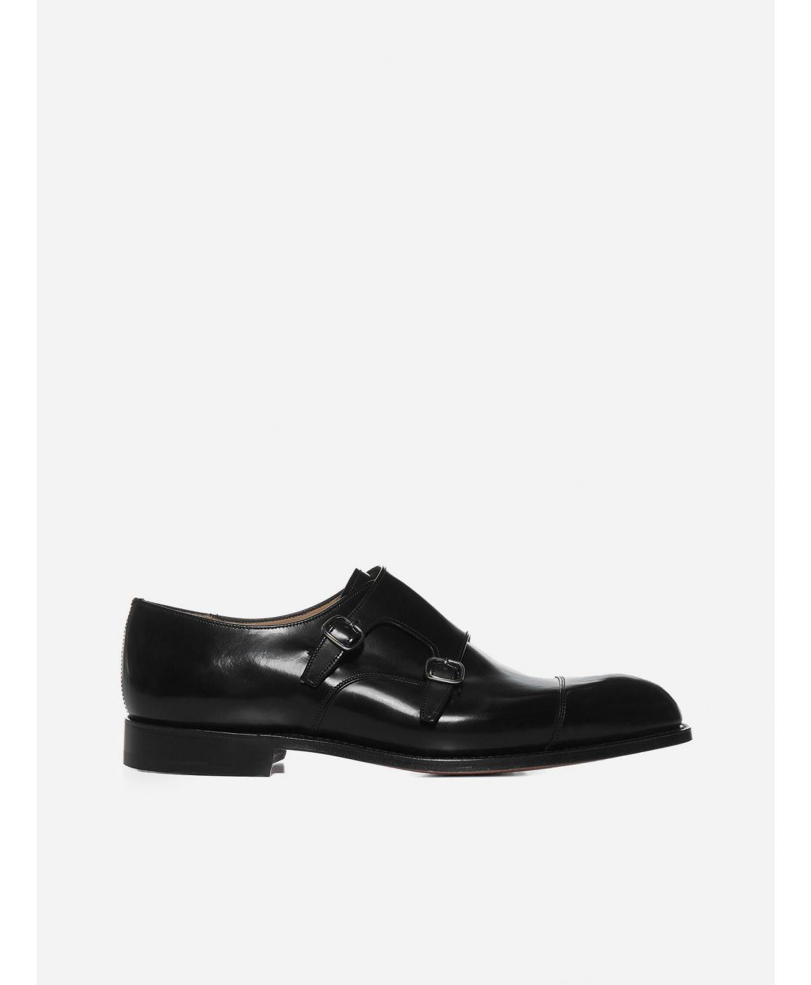 Cowes leather monk strap shoes