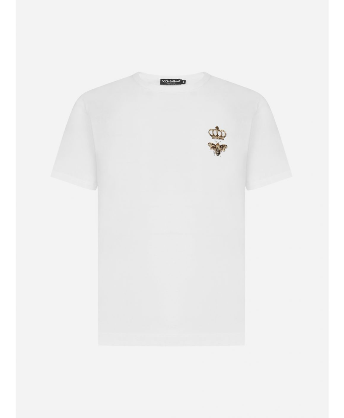 Crown and Bee embroidered cotton t-shirt