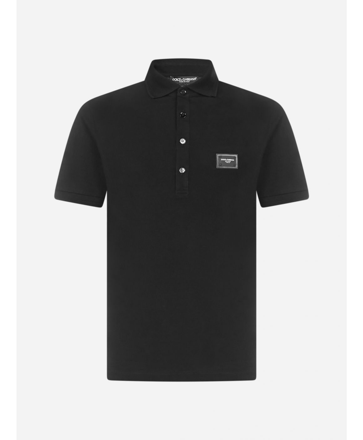 Logo-plaque cotton polo shirt