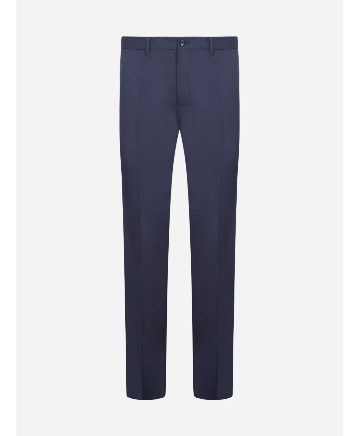 Logo-patch stretch cotton trousers