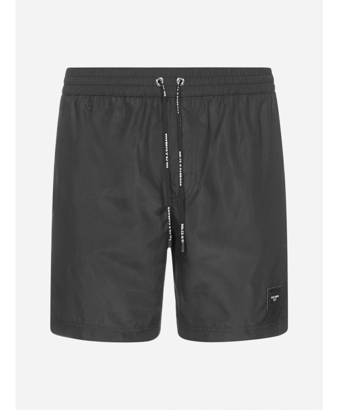 Logo-plaque nylon swim shorts