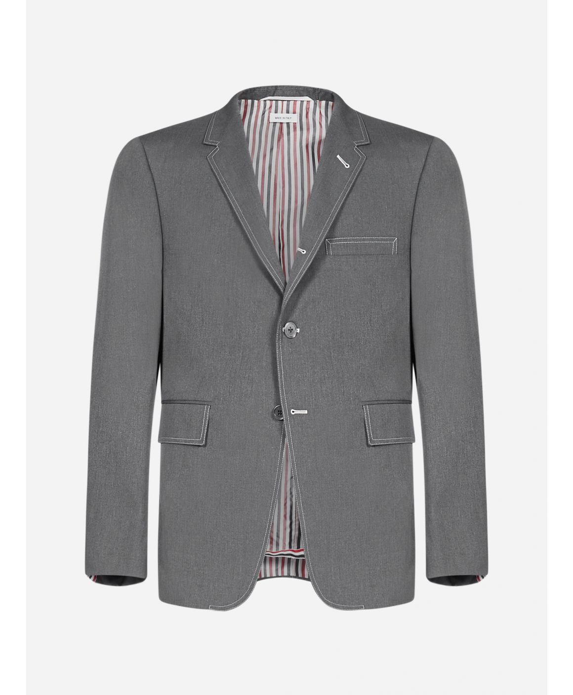 Cotton-blend single-breasted blazer