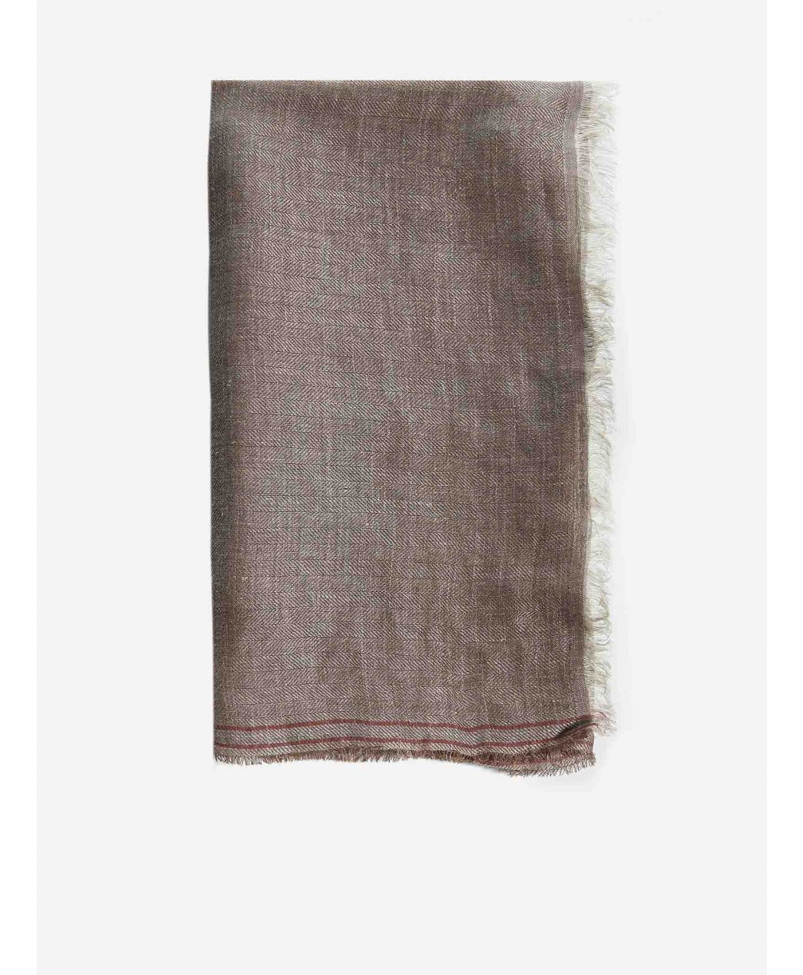 Linen and silk scarf