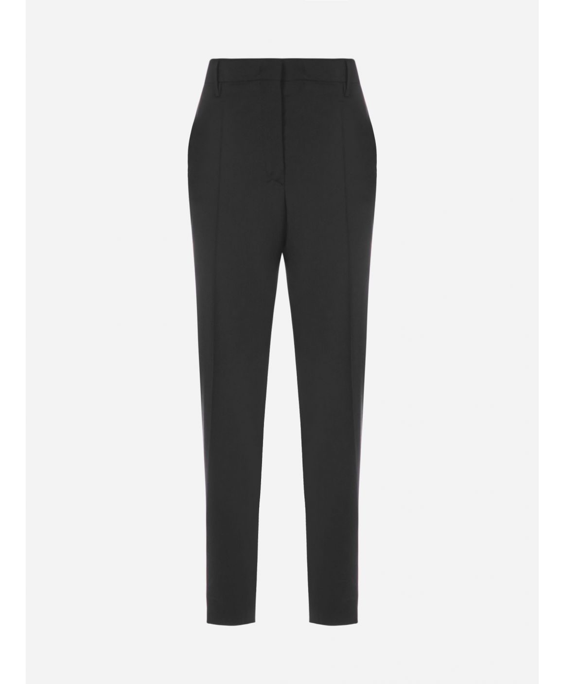 Wool crop trousers