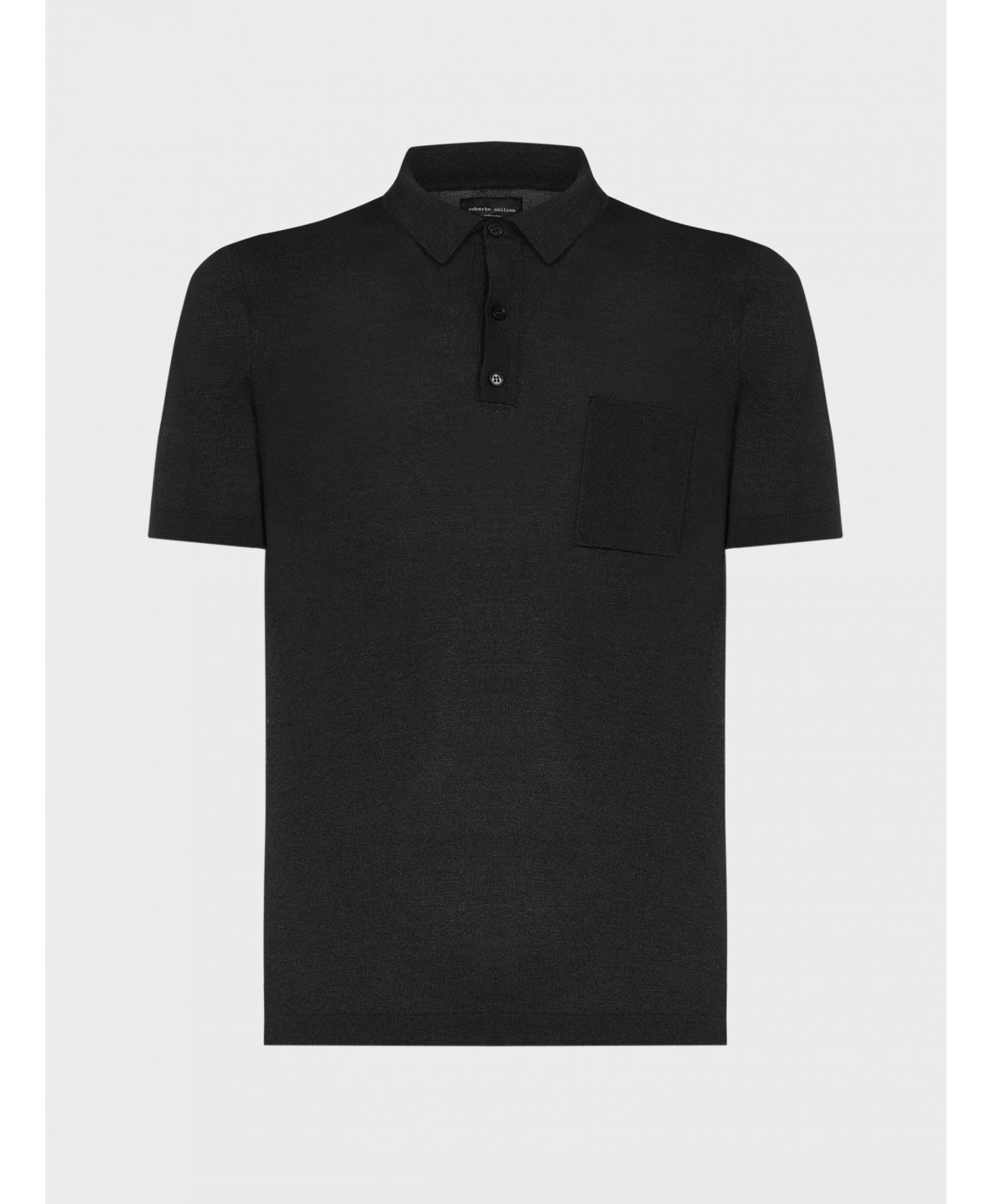 Cotton and viscose polo shirt