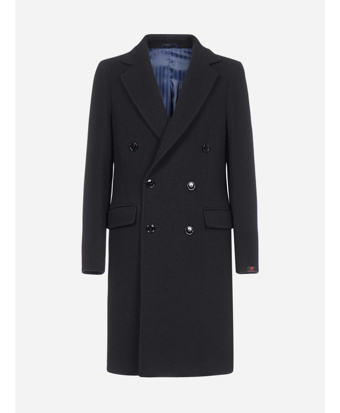 Roger double-breasted virgin wool coat