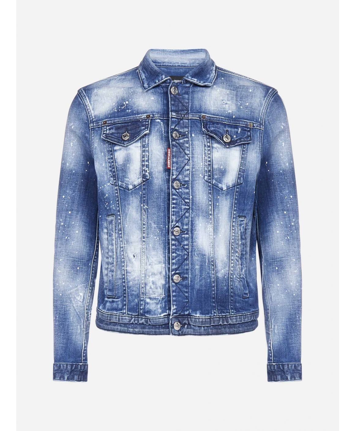 Dan vintage-spray style denim jacket