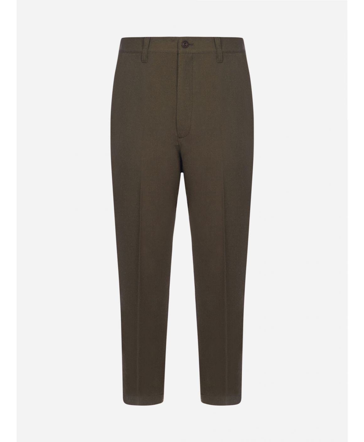 Wool tweed trousers